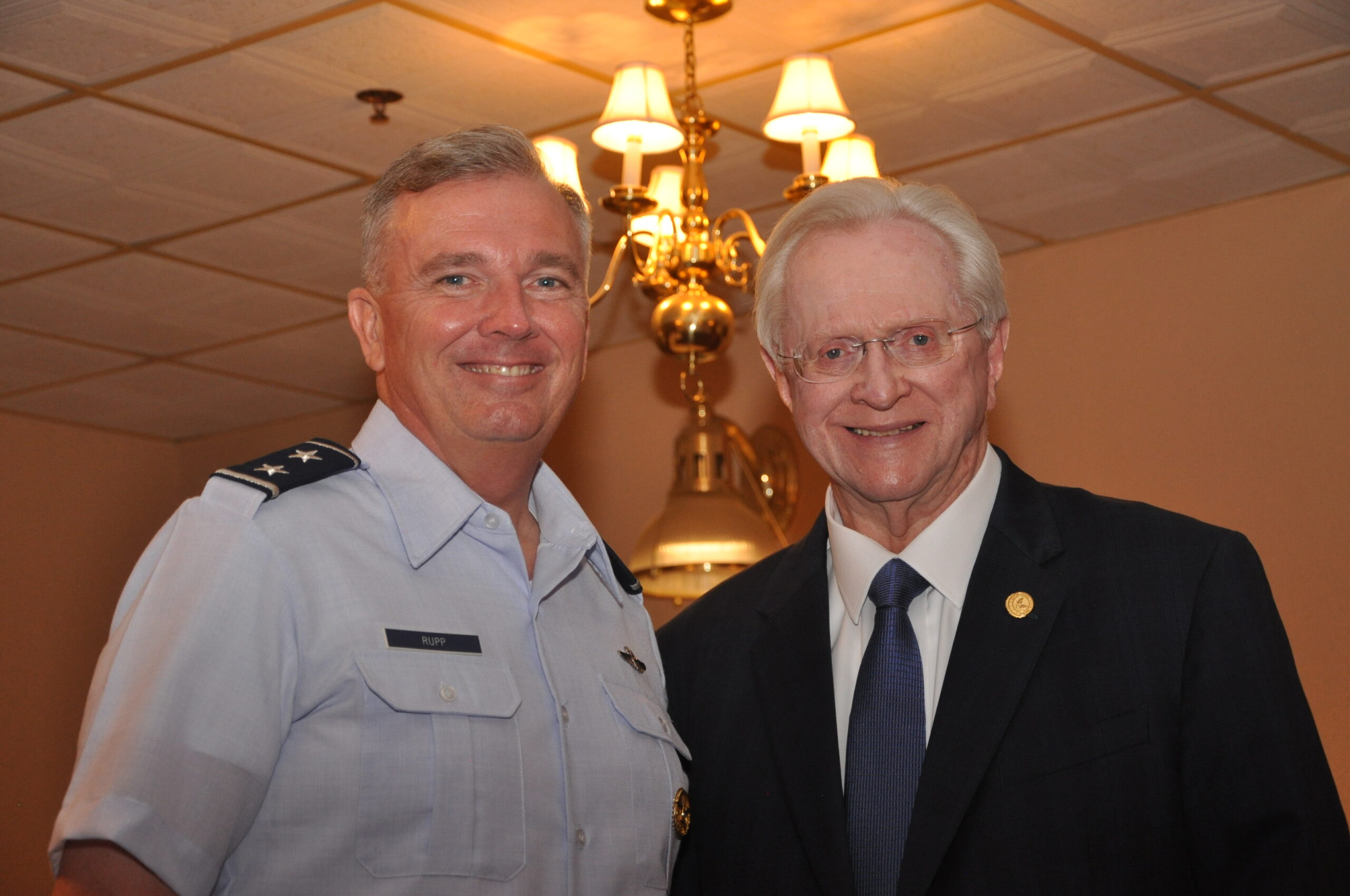 Left to right, Maj. Gen. Ricky Rupp, Commander, Air Force District of Washington, Hon. M.H. Jim Estepp, President & CEO, Andrews Business & Community Alliance